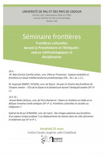 seminaire frontières 25 mars